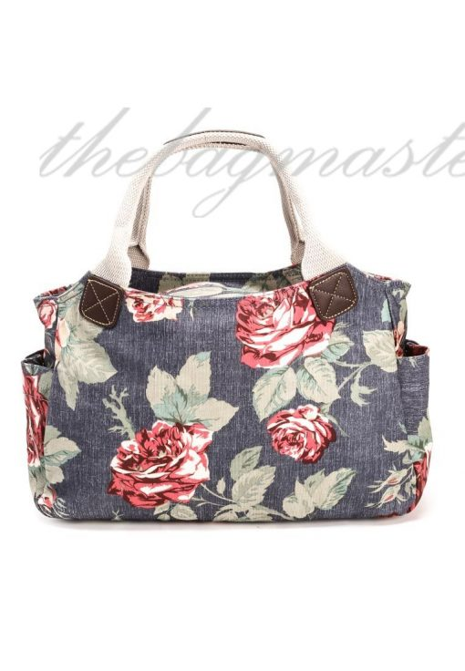Cath Kidston Antique Rose Day Bag-Faded Blue