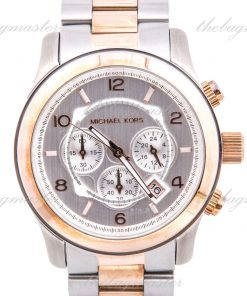 Michael Kors Two Tone Stainless Steel Case and Bracelet Chronograph MK8176