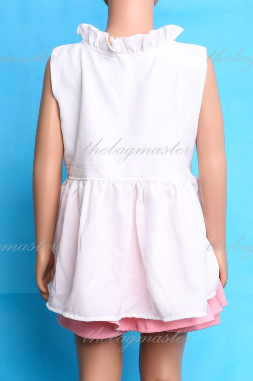 JSOFIA Sleeveless top with flowers accent - White