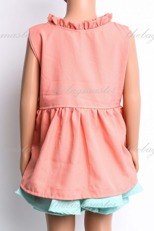 JSOFIA Sleeveless top with flowers accent - Pink