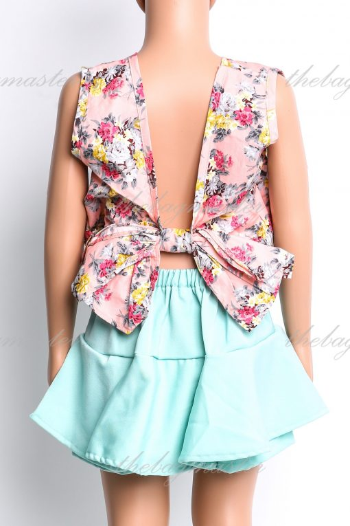JSOFIA Floral backless cropped top - Pink