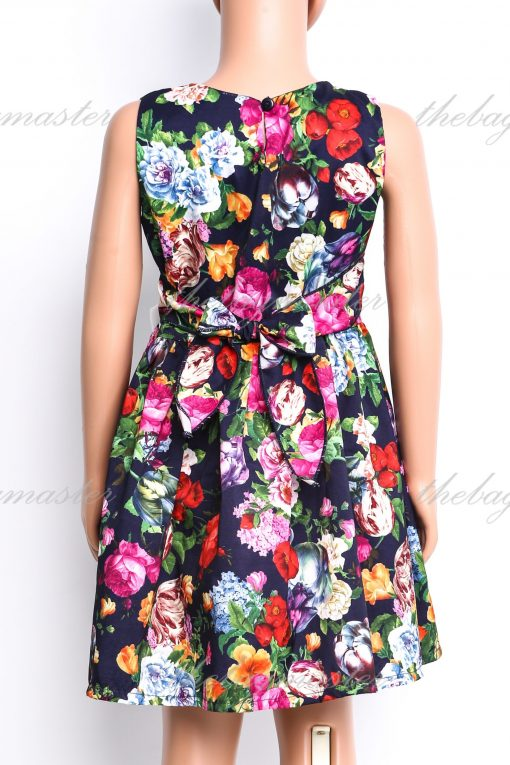 JSOFIA Floral dress with white front bow