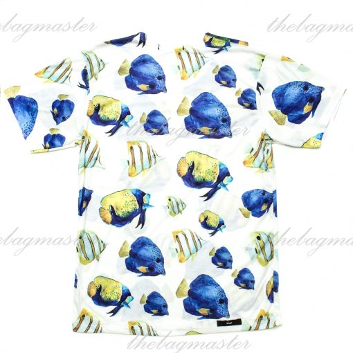 Peppered Gravy Tropical Fish Printed T-Shirt - Small