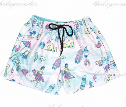 Peppered Gravy Hit the Beach Printed Shorts