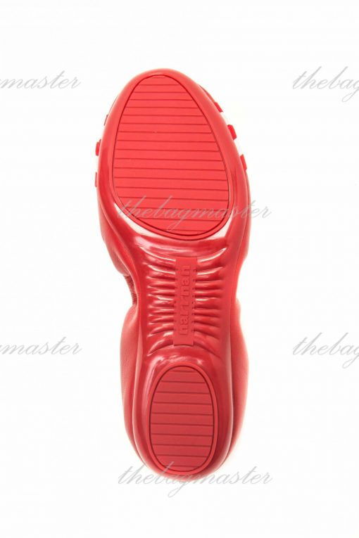 Narrnan Leather Comfortable Dancing Shoes - Red (Size US 7 1/2 - UK 38)