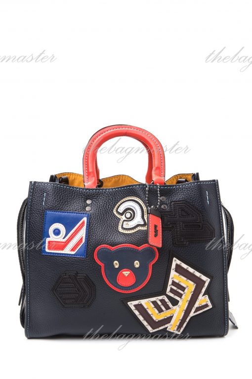 Coach Varsity Patch Rogue Bag 41 In Pebble Leather