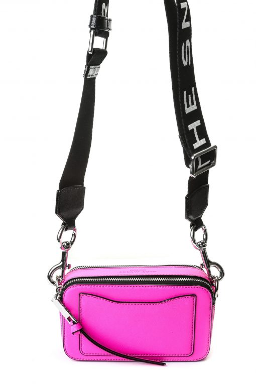 Marc Jacobs Snapshot Camera Bag - Fluorescent Pink with Logo Strap
