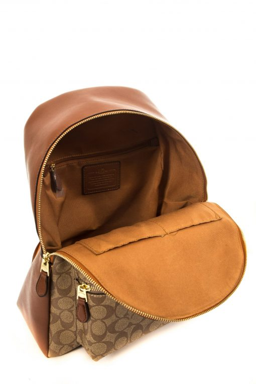 Coach Signature Charlie Backpack - Light Brown