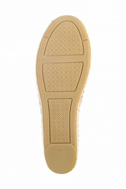 Tory Burch Perforated Logo Leather Espedrille Flat - White