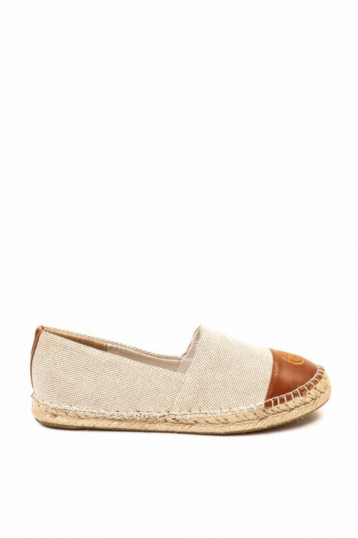 Tory Burch Color-Block Leather Espadrille - Sea Shell Pink