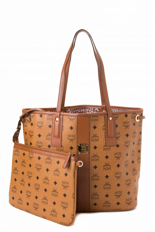 MCM Tote Bag with Pouch - Cognac