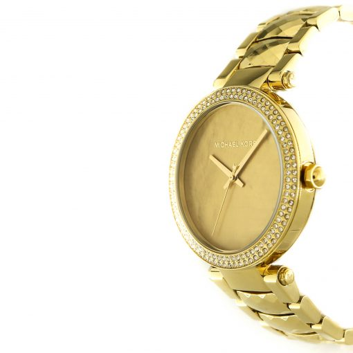 Michael Kors Parker Gold Tone Mother Of Pearl Dial Ladies Watch MK6425