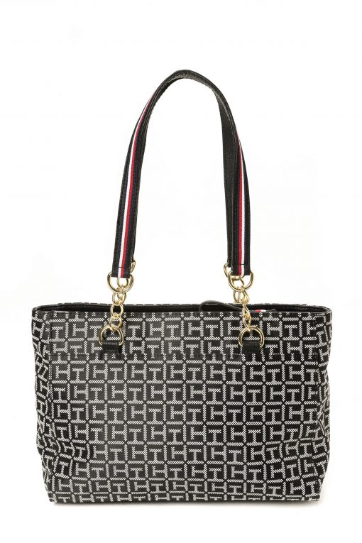 Tommy Hilfiger Easy Tote Classic Logo - Black/White