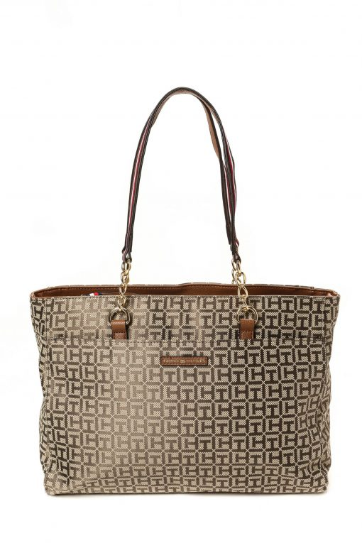 Tommy Hilfiger Easy Tote Classic Logo - Light Brown