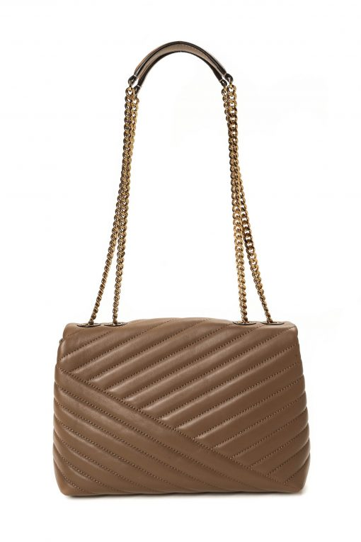 Tory Burch Kira Chevron Quilted Shoulder Bag - Classic Taupe