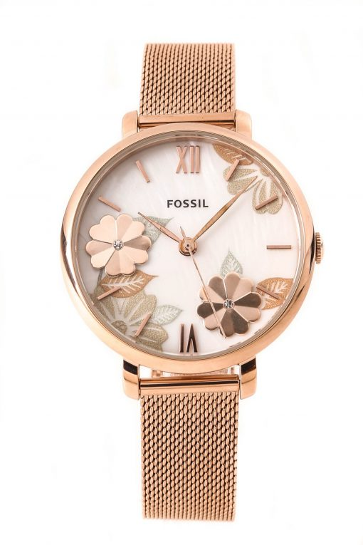 Fossil Women's Jacqueline Rose Gold-Tone Stainless Steel Watch ES4534