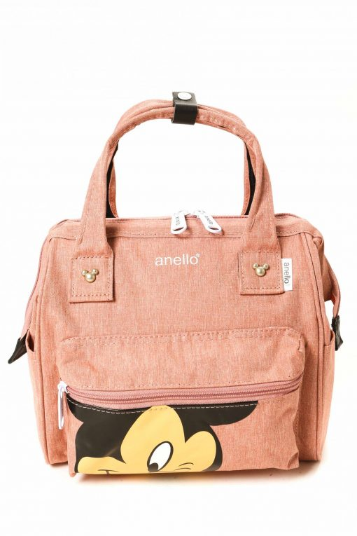 Anello Mickey Mouse Mini Polyester Canvas Boston Sling Bag - Pink