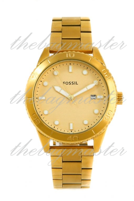 Fossil Dayle Women's Three-Hand Date Gold-Tone Stainless Steel Watch BQ3594