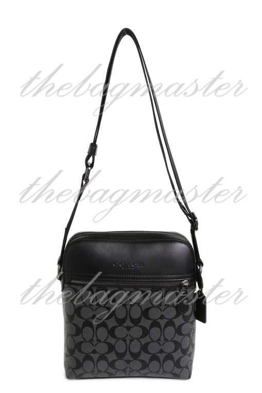 Coach Charles Crossbody In Signature Canvas - Charcoal Black
