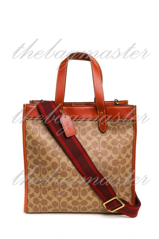 Coach Field Tote With Horse And Carriage Print - Brown