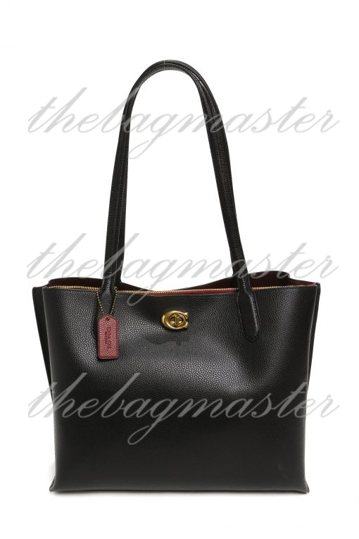 Coach Willow Tote in Signature Leather - Black