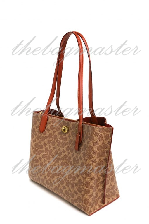 Coach Willow Tote in Signature Canvas - Brown