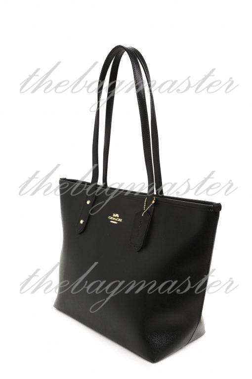 Coach Central Leather Tote - Black