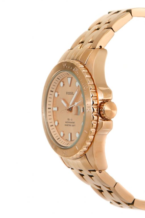 Fossil Dayle Women's Three-Hand Date Rose Gold-Tone Stainless Steel Watch BQ3596