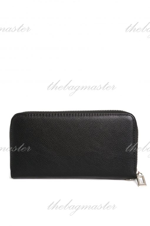 Guess Leather Zip Around Wallet - Black