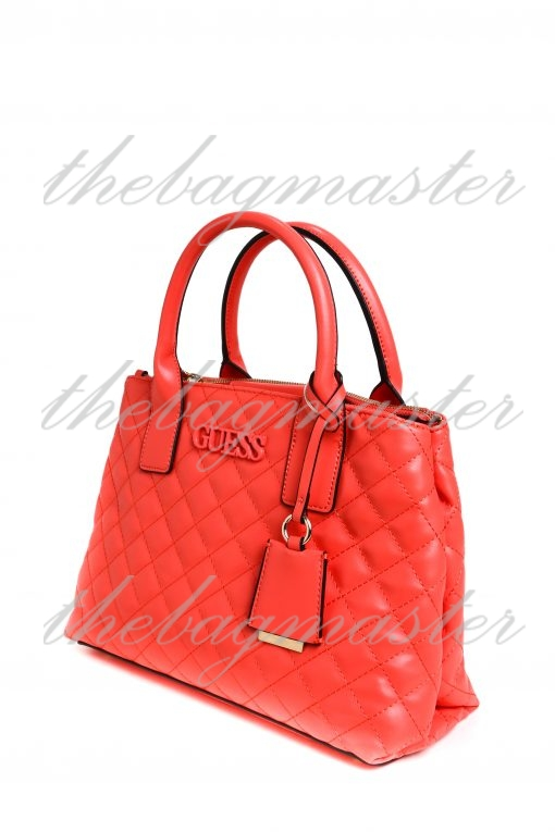 Guess Women's Shiann Quilted Satchel - Red