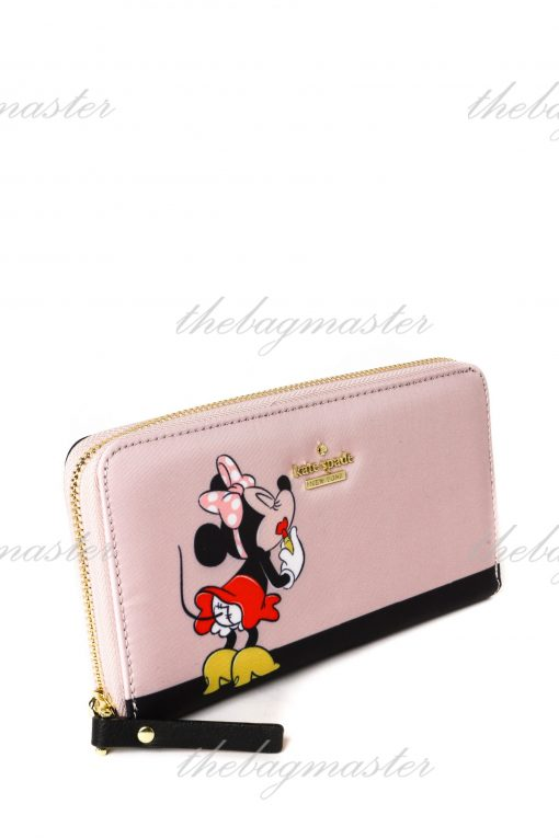 Kate Spade New York Zip Around Continental Wallet - Minnie Mouse Pink