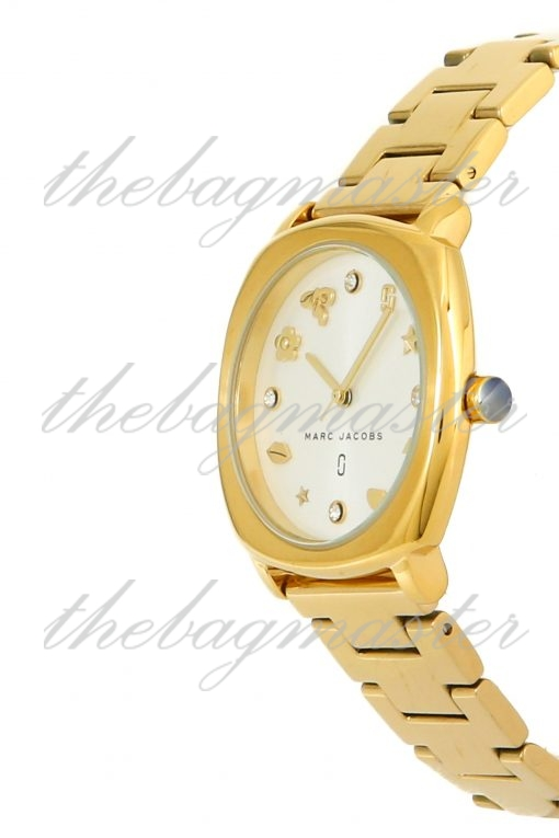 Marc Jacobs Mandy Gold Toned Stainless Steel Women's Watch MJ3549
