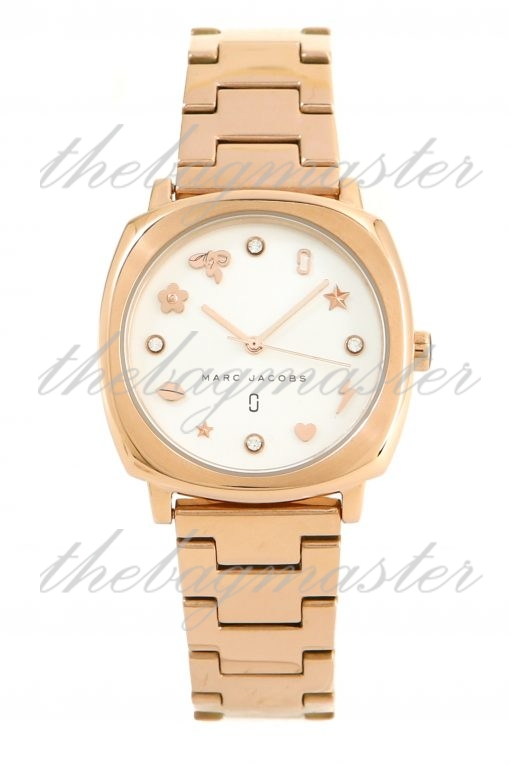 Marc Jacobs Mandy Rose Gold Toned Stainless Steel Women's Watch MJ3574
