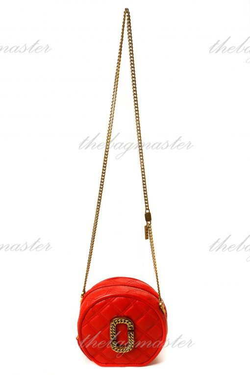 Marc Jacobs The Status Round Crossbody - Red