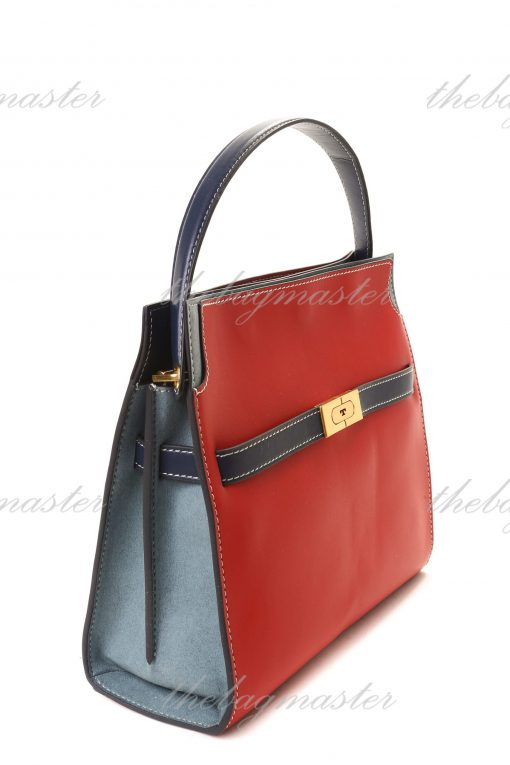 Tory Burch Lee Radziwill Small Double Bag - Red Apple