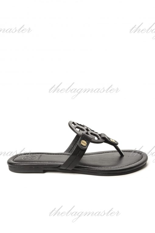 Tory Burch Miller Leather Sandals - Black size 7