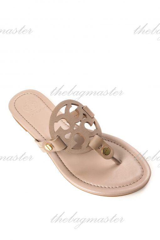 Tory Burch Miller Leather Sandals - Taro size 9