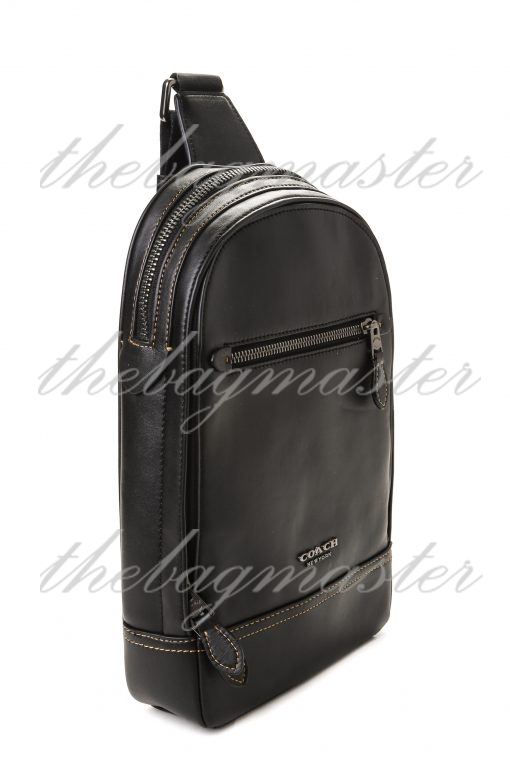 Coach Signature Leather Academy Pack - Black