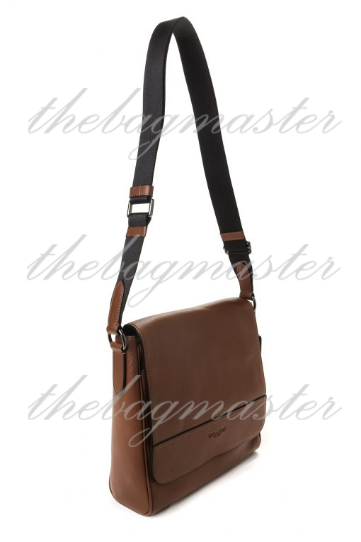 Coach Charles Small Messenger Bag in Signature Leather - Brown
