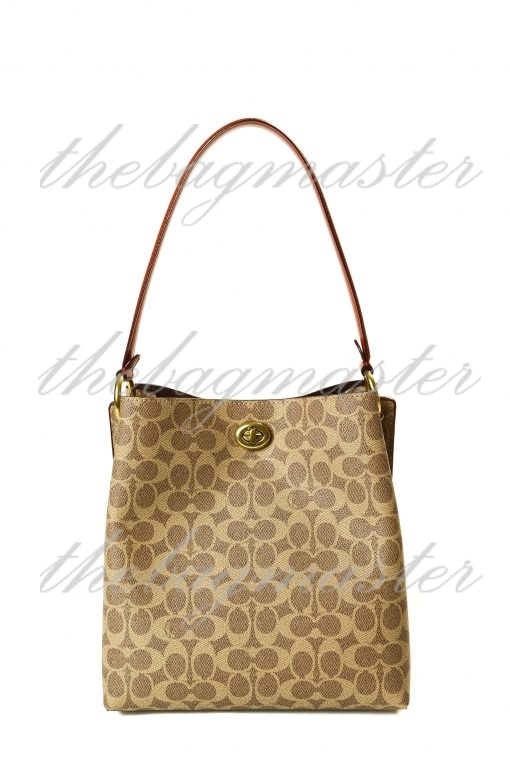 Coach Charlie Bucket Bag in Signature Canvas - Brown