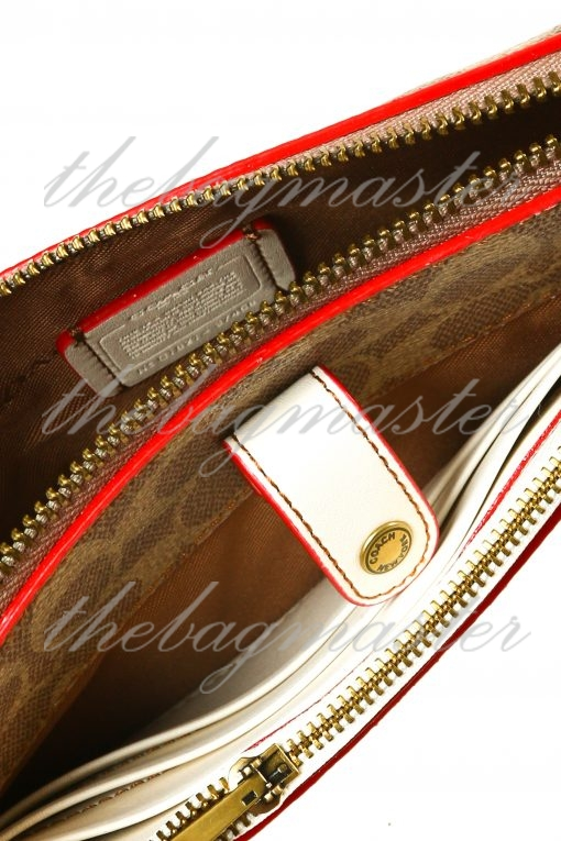 Coach Noa Pop-Up Messenger in Signature Canvas - Brown/Red/White