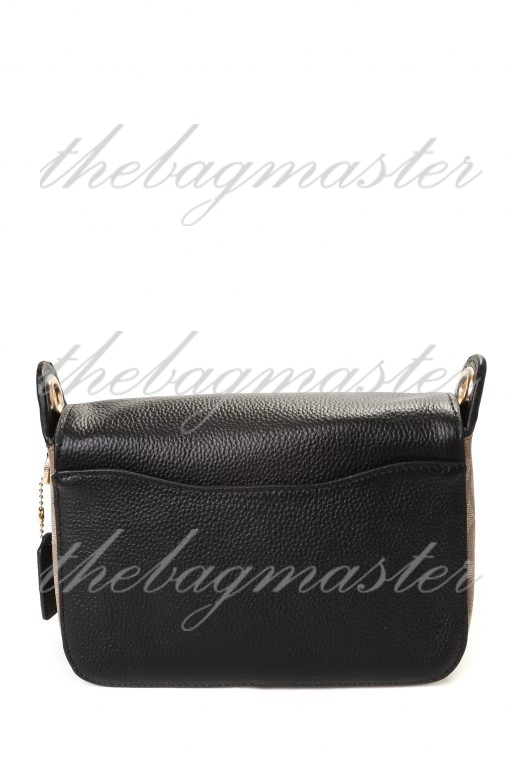 Coach Jes Small Messenger Bag in Signature Canvas - Black/Brown
