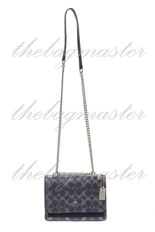 Coach Chain Strap Crossbody Bag in Signature Canvas - Charcoal