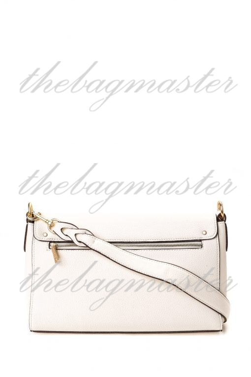 Coach Jade Shoulder Bag in Signature Canvas - Brown/White
