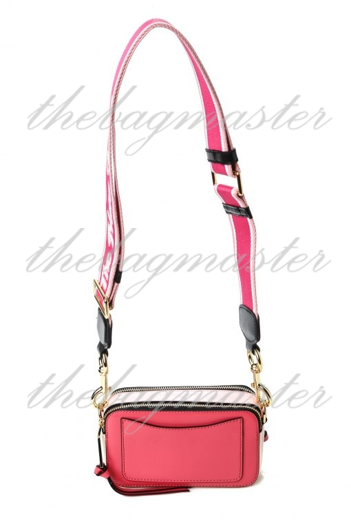 Marc Jacobs Saffiano Leather Snapshot Camera Bag - Pink/White