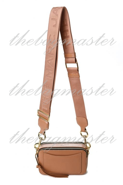 Marc Jacobs Saffiano Leather Snapshot Camera Bag - Brown