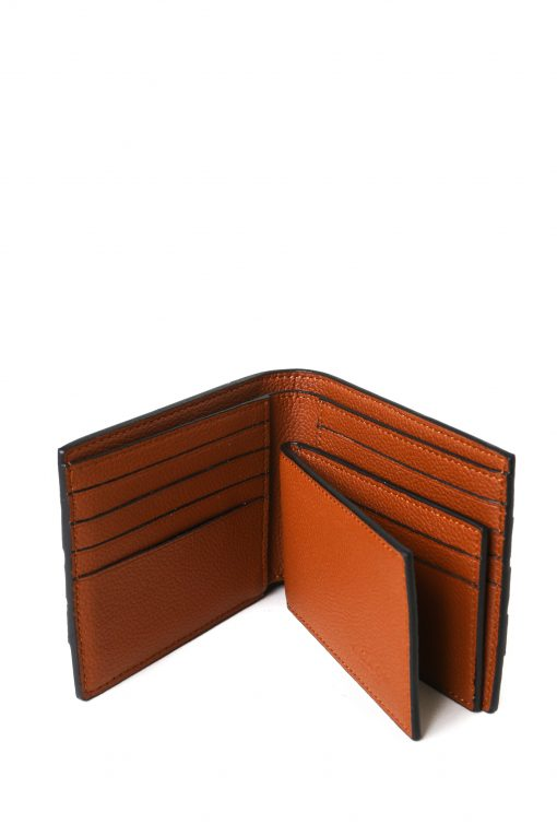 Coach Mens 3 In 1 Signature Leather Varsity Stripe Bifold Id Wallet - Brown/Grey/White