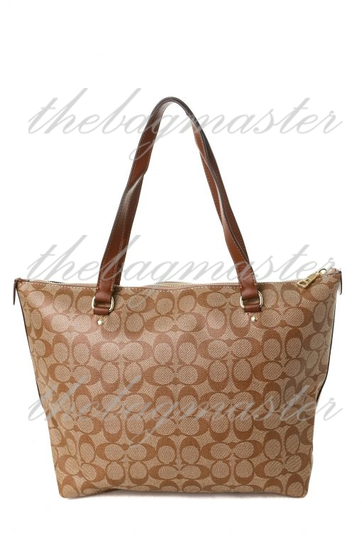 Coach Gallery Tote in Signature Canvas - Brown