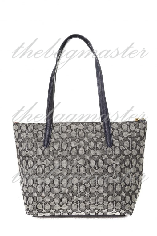 Coach Taylor Tote in Signature Jacquard - Midnight Navy