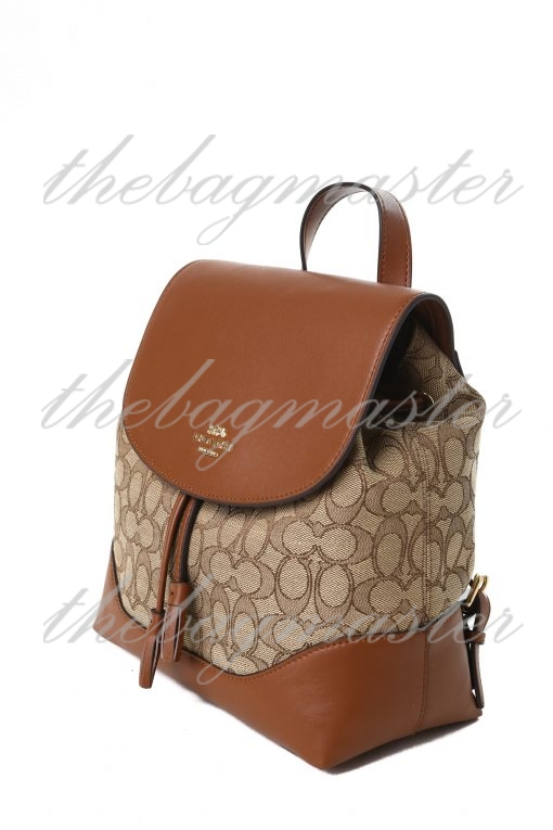 Coach Elle Backpack In Signature Canvas - Brown